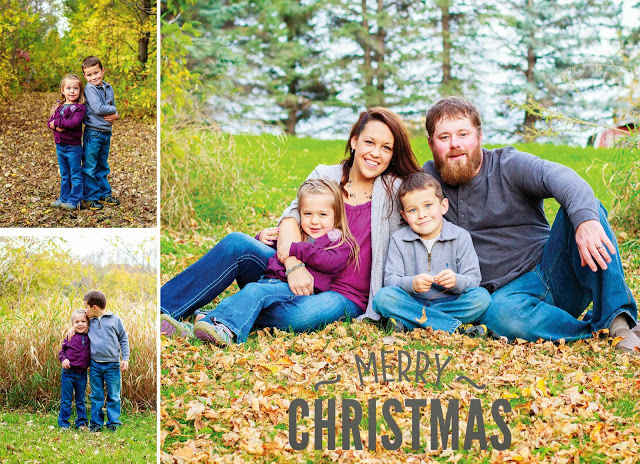 Outdoor Detroit Lakes Family Photography | Christmas Cards