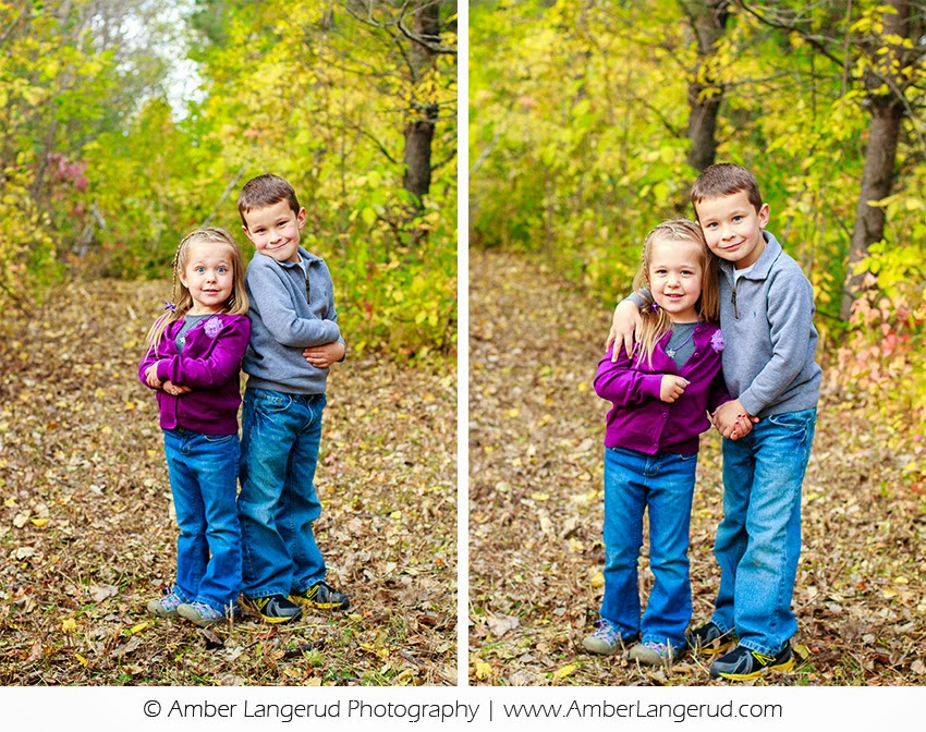 Detroit Lakes Family Photographer | Fall family portraits | Kids playing in the leaves