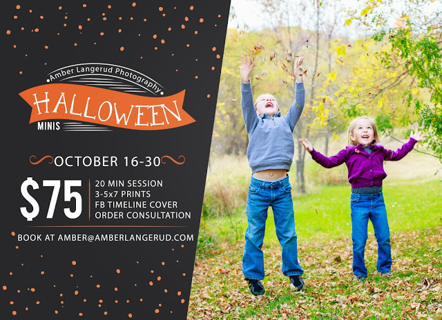 Halloween mini session, Fall family portraits, detroit lakes family photographer