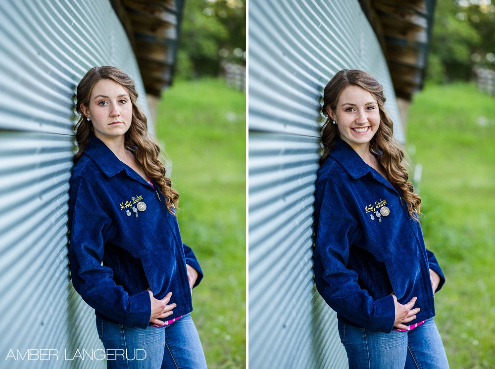 High School Senior Pictures Country Styled with FFA Jacket Frazee, MN