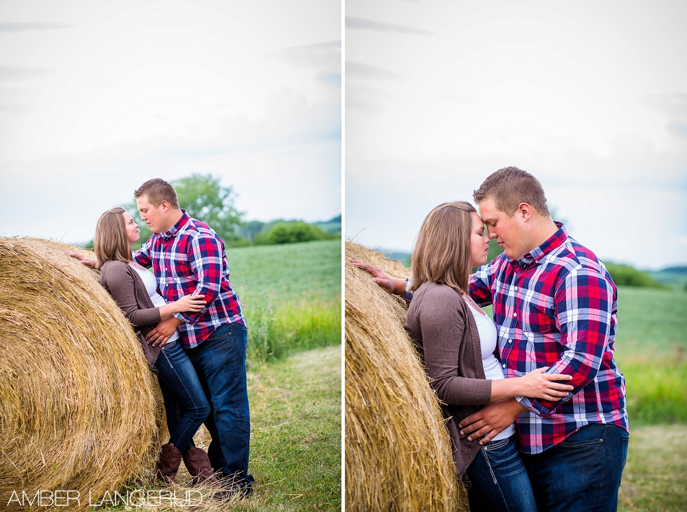 Detroit Lakes Area Farm Styled Engagement Session | Hay Bales
