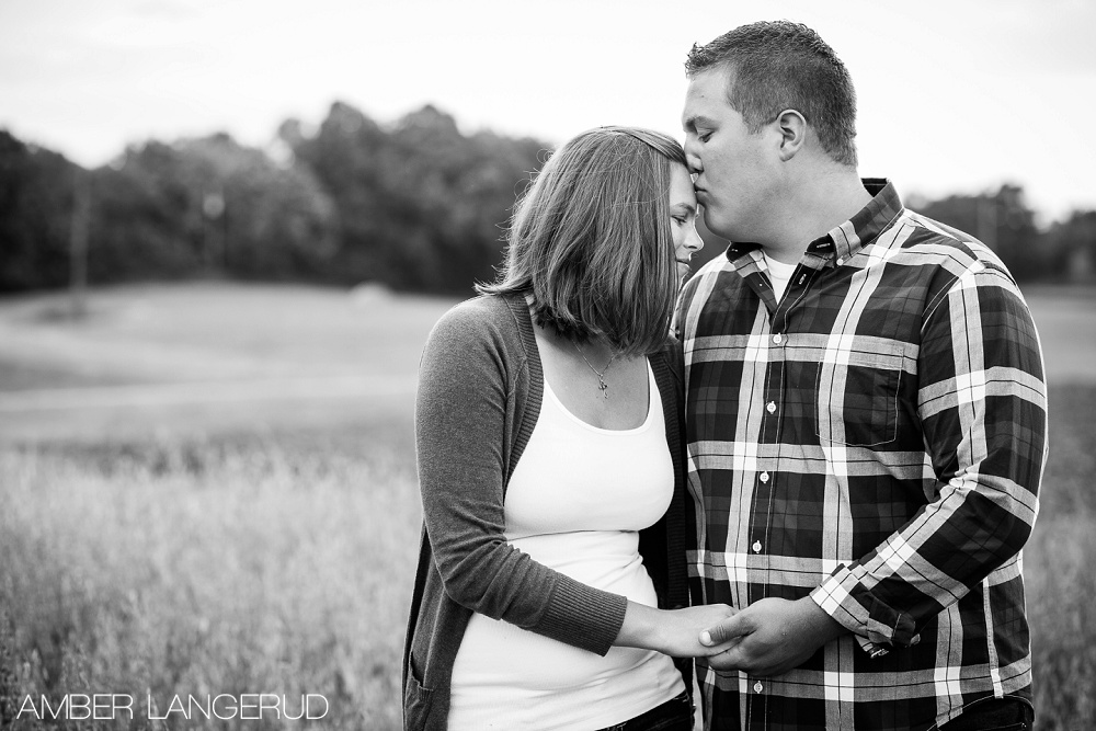 Detroit Lakes Area Farm Styled Engagement Session | Couple Pose