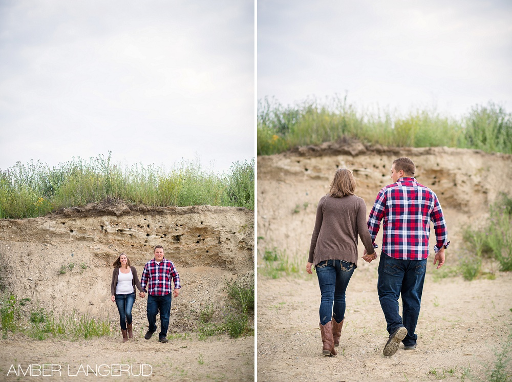 Detroit Lakes Area Farm Styled Engagement Session | Walking Picture