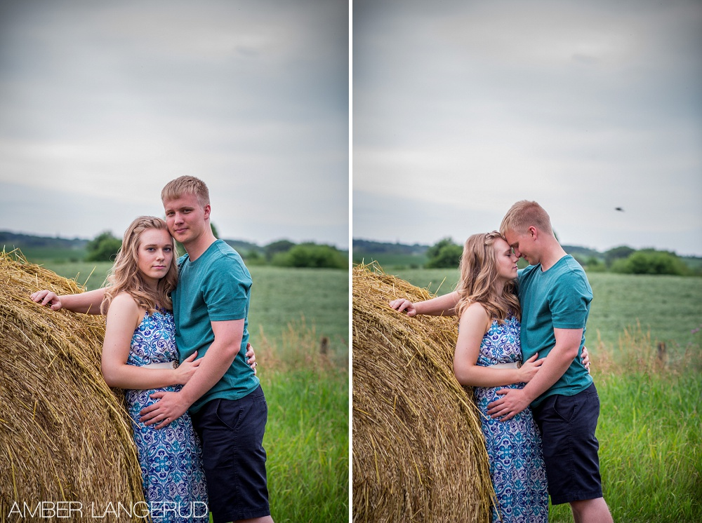 Mark&Eva Engagement Session MN Hay Bale