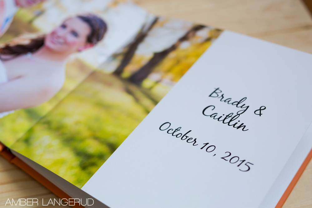 Wedding Photo Album by Amber Langerud Photography