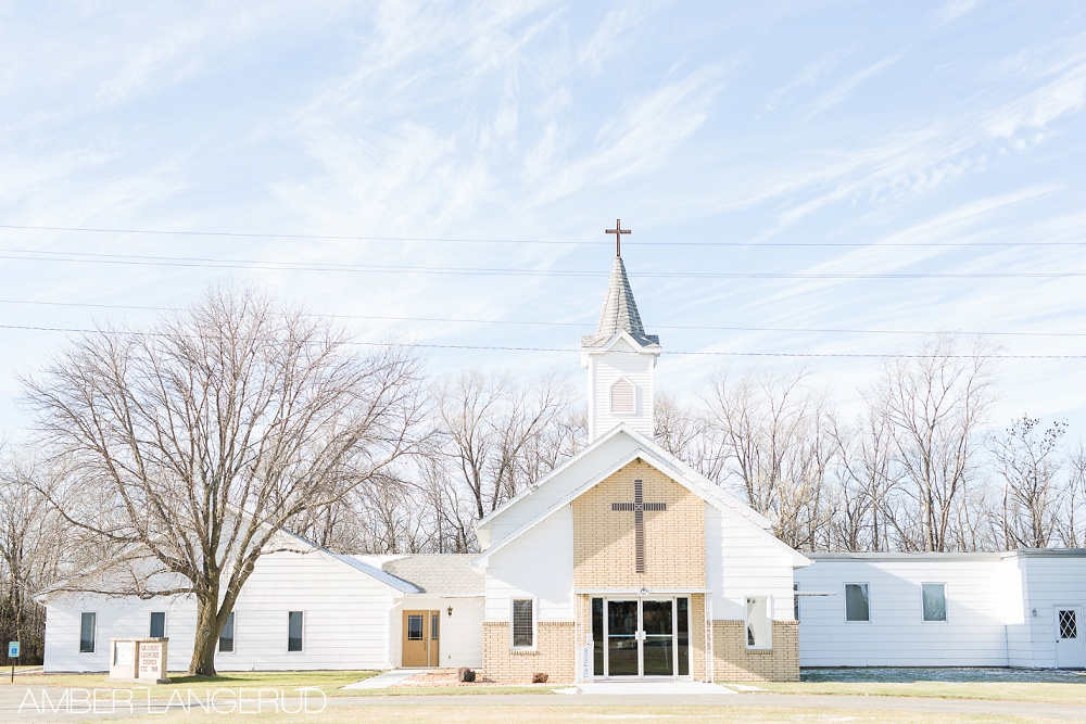 Rural North Dakota Country Church Wedding Galchutt, ND Church