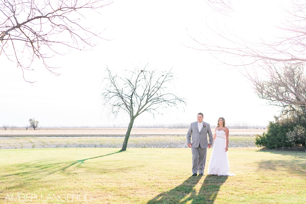 Rural North Dakota Country Church Wedding | Bride and Groom Portraits