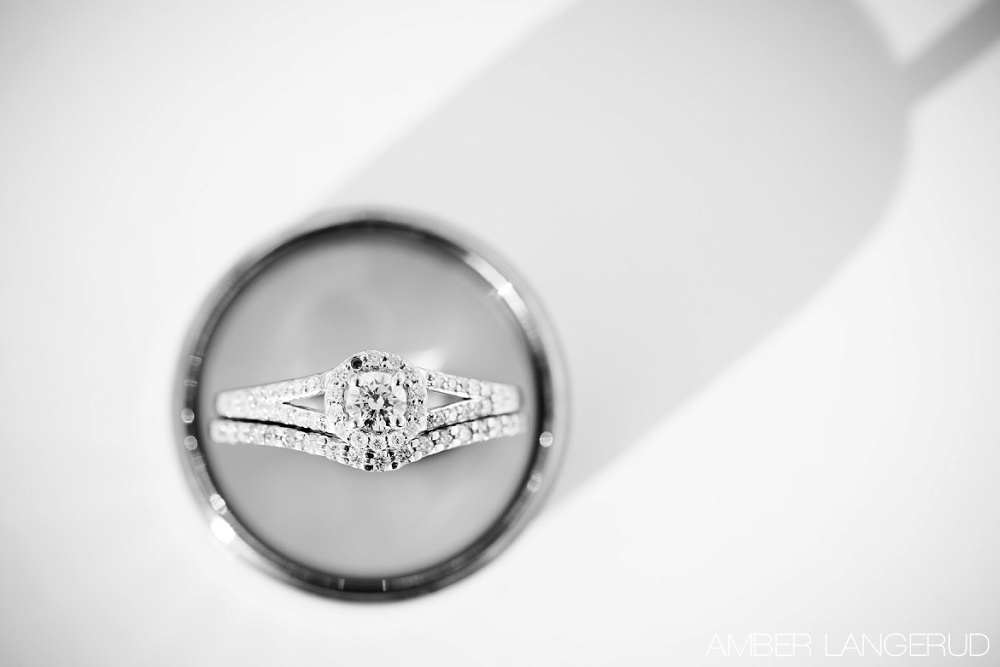 Rural North Dakota Country Church Wedding | Ring Details | Macro Shot