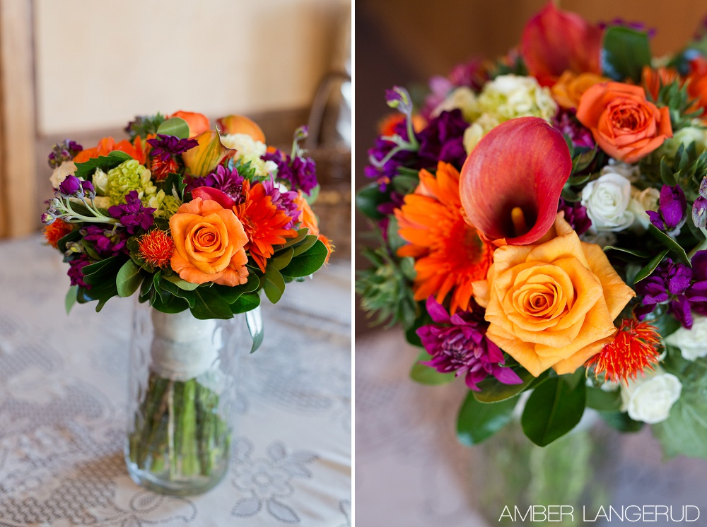 Rural North Dakota Country Church Wedding | Boquet Details | Macro Shot