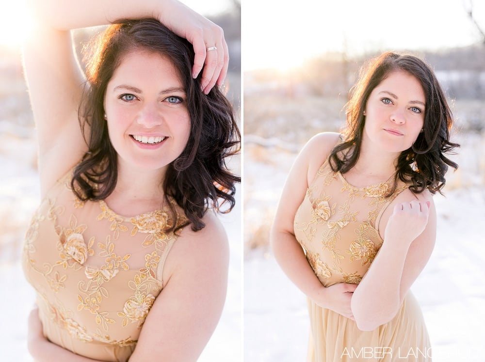 Audubon, MN Outdoor Winter Portraits | Dance Outfit