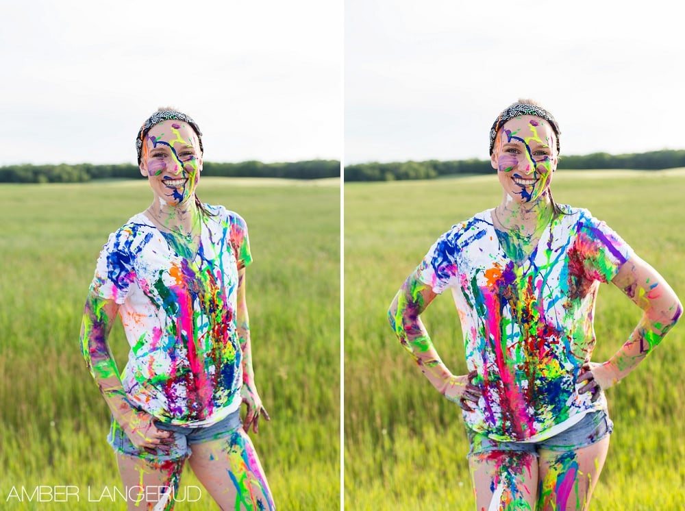 Frazee, MN Paint Splash Photoshoot