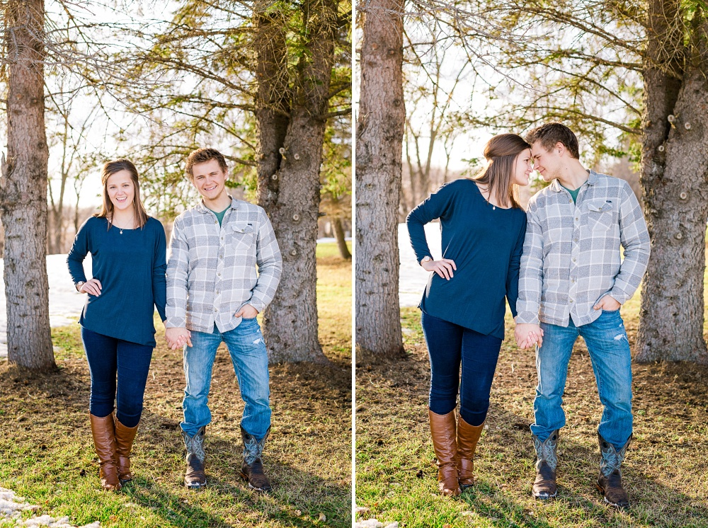 Outdoor, Winter, Minnesota, Country Styled Engagement Session | Audubon, MN Engagement Photographer