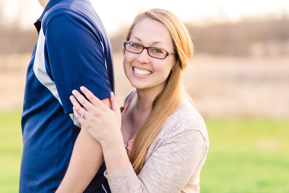 Outdoor, country styled, springtime engagement session, Audubon, Minnesota | Amber Langerud Photography