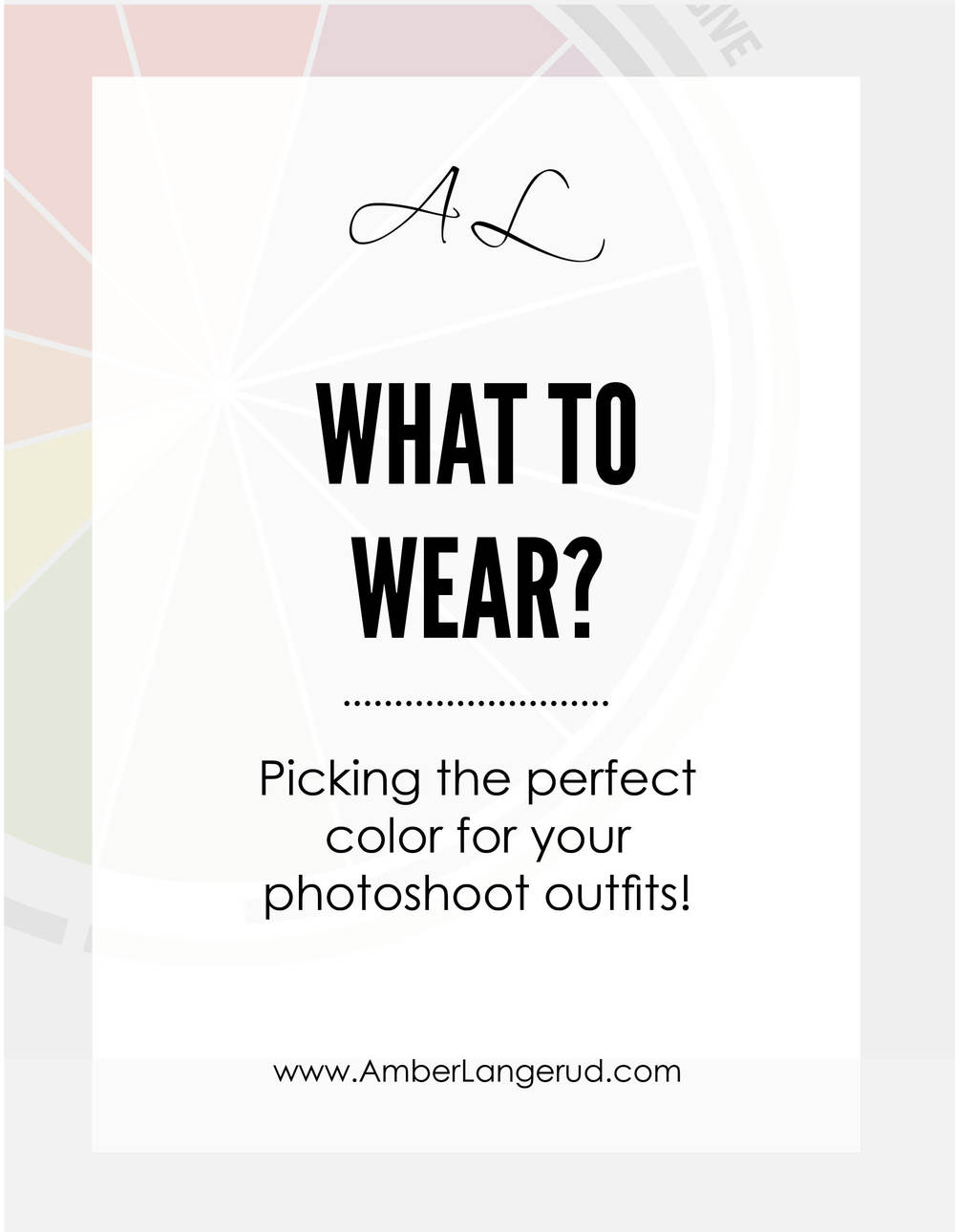 Picking the perfect color outfits for your high school senior or engagement pictures!!