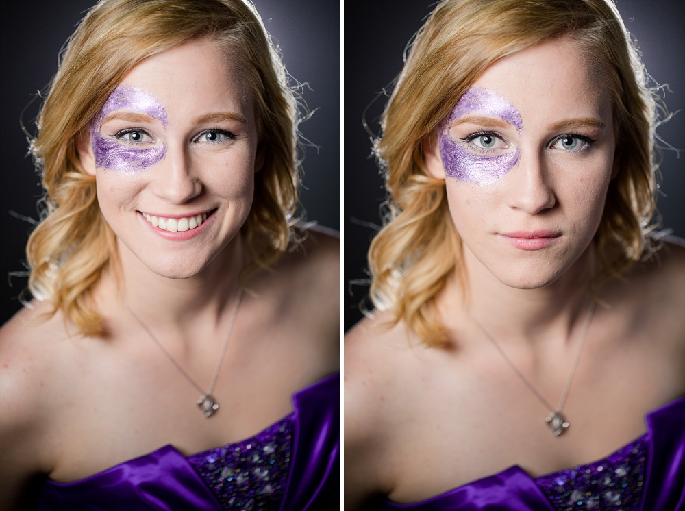 Glitter, Purple, Fog Indoor Studio Photo Session | Amber Langerud Photography