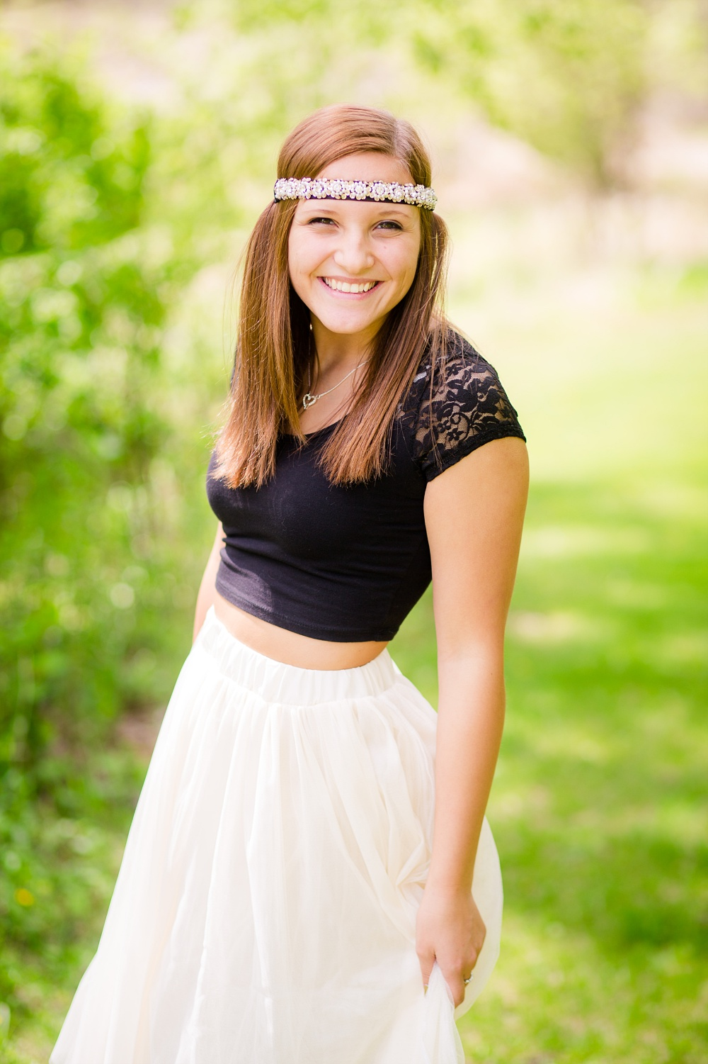 Outdoor Tulle Skirt Inspired Senior Session | Amber Langerud Photography