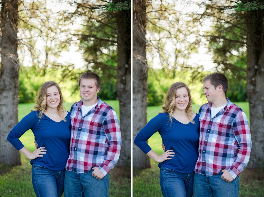 Outdoor, Summertime, dating couple session with Amber Langerud Photography | Audubon, MN