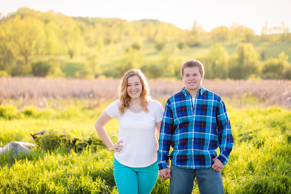 Outdoor, Summertime, dating couple session with Amber Langerud Photography | Audubon, MN farmsite