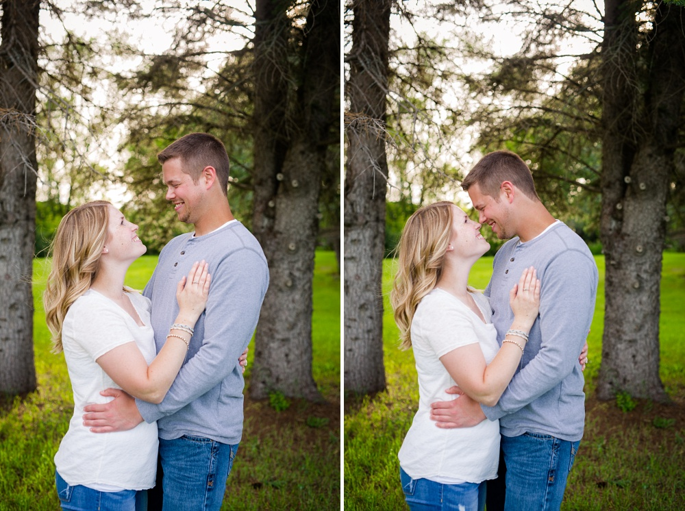 Outdoor, country styled engagement photos near Audubon, MN | Amer Langerud Photography