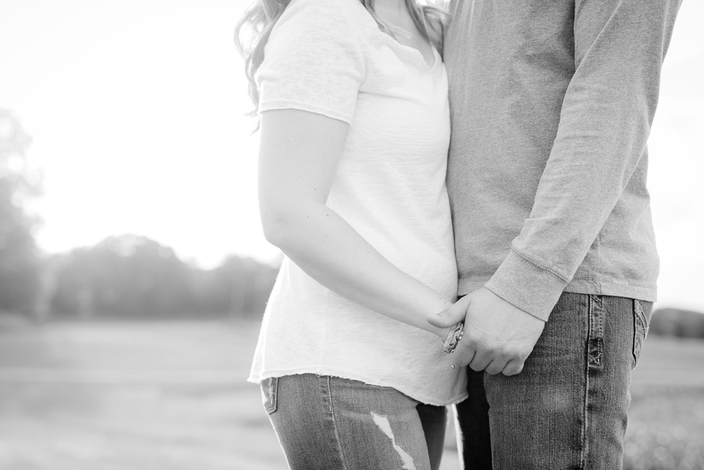 Couple holding hands | Outdoor, country styled engagement session near Audubon, MN | Amer Langerud Photography