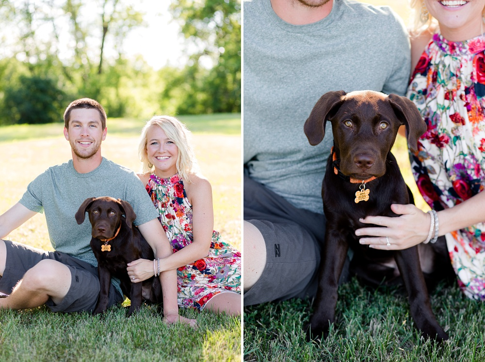 Outdoor, Country Styled Engagement Session with Their Puppy near Audubon, MN | Amber Langerud Photography | Lab Puppy