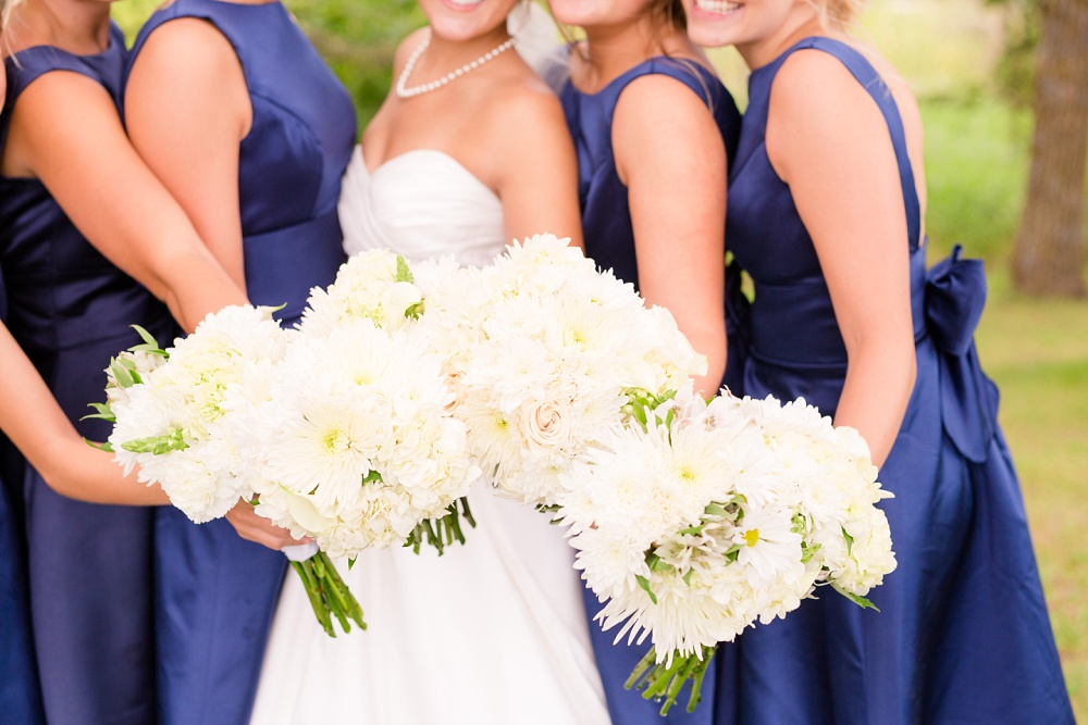 Wolf Lake, MN Country Styled Wedding, White Dress, Blue Suite | Photographed by Amber Langerud Photography | Bridal bouquets