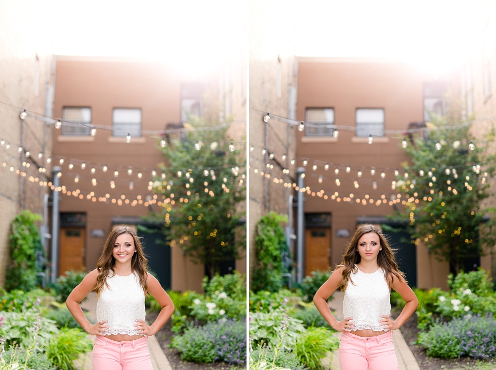 Urban Styled High School Senior Portraits in Detroit Lakes, MN | Photographed by Amber Langerud Photography | Senior in Urban Garden