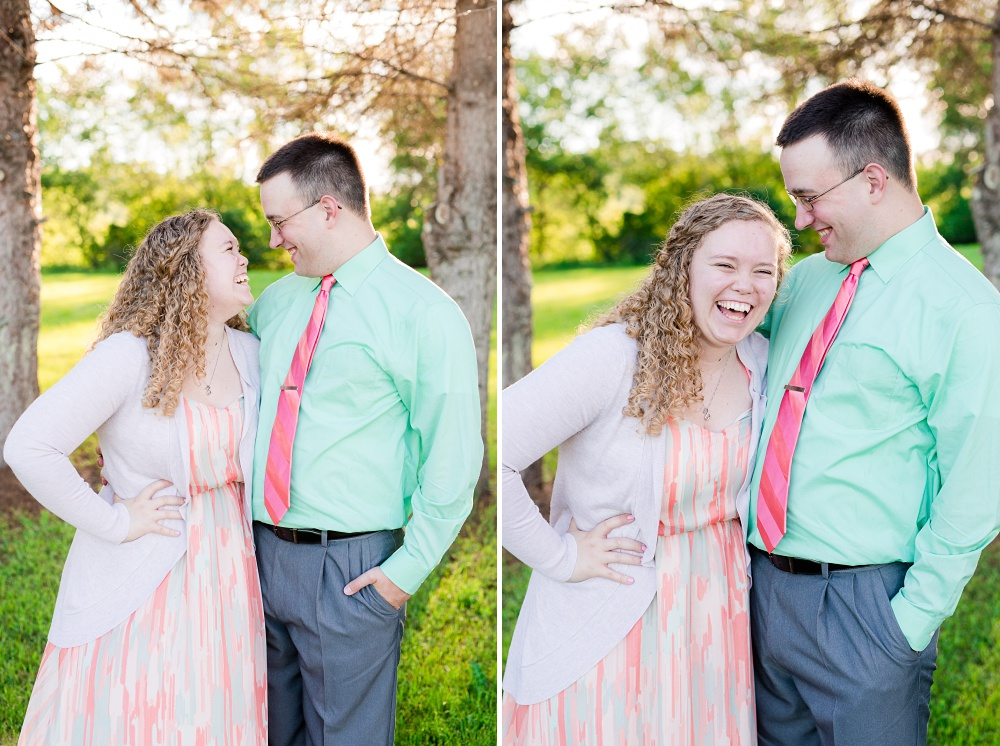 Minnesota Country Styled Engagement Pictures by Amber Langerud Photography | Couple laughing