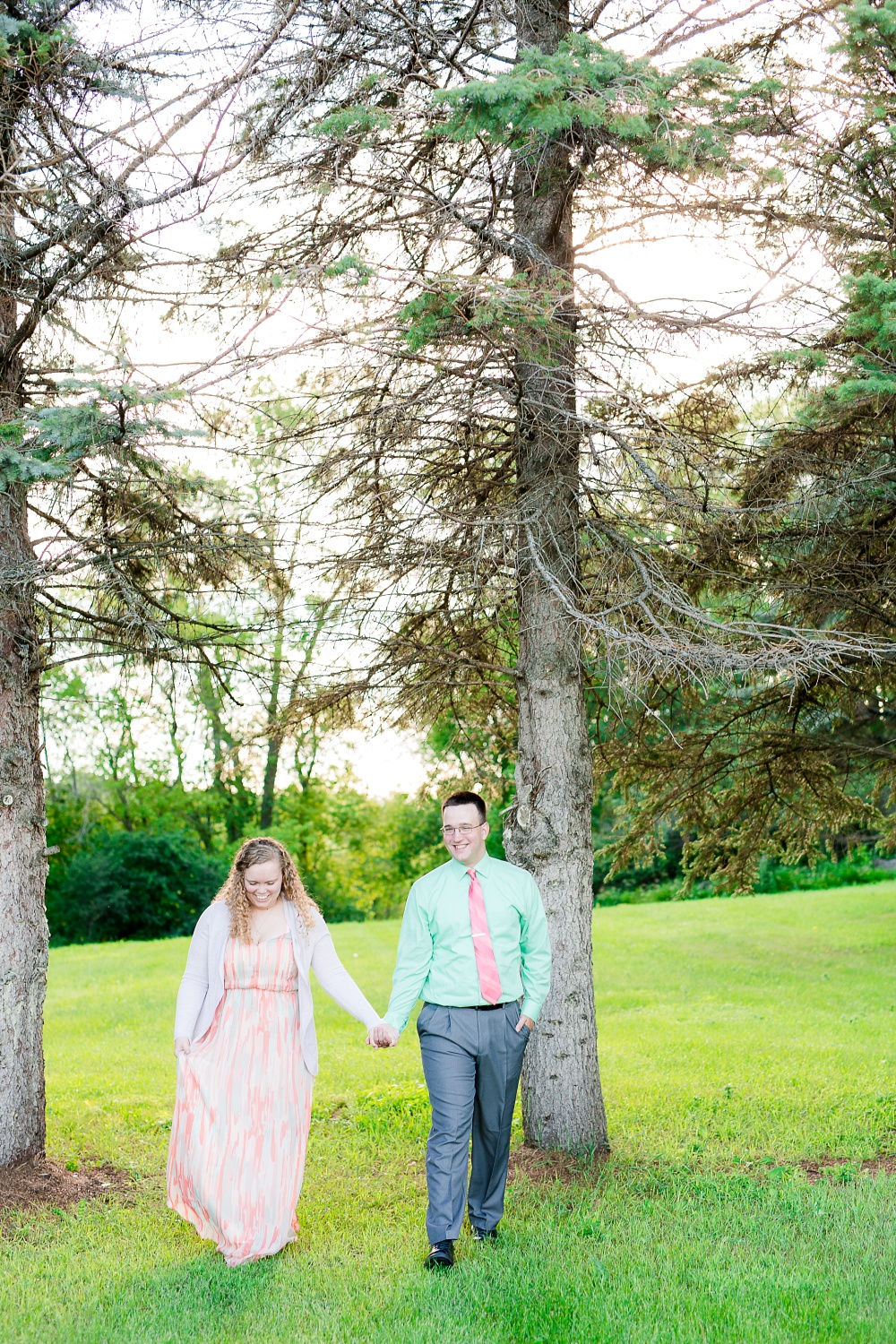 Minnesota Country Styled Engagement Pictures by Amber Langerud Photography | Couple walking together