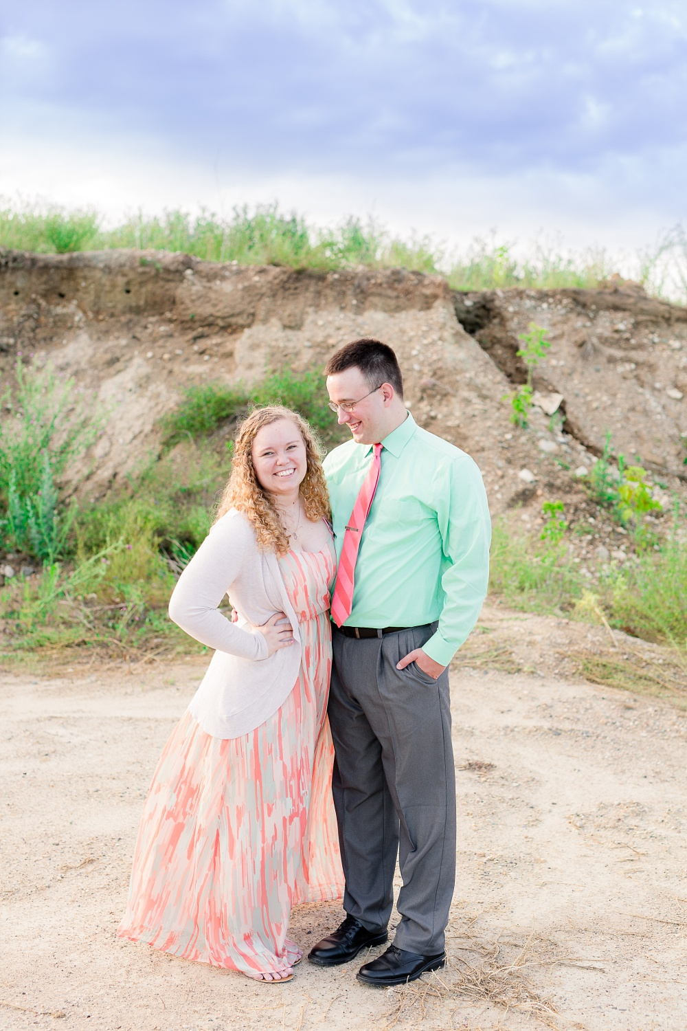 Minnesota Country Styled Engagement Pictures by Amber Langerud Photography | Fiance looking at his bride to be