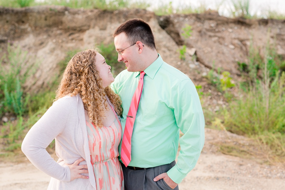 Minnesota Country Styled Engagement Pictures by Amber Langerud Photography | Couple looking into each others eyes