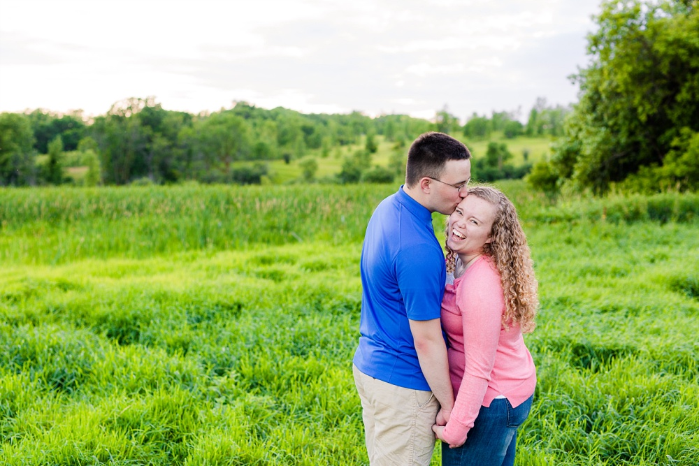 Minnesota Country Styled Engagement Pictures by Amber Langerud Photography | Happy couple