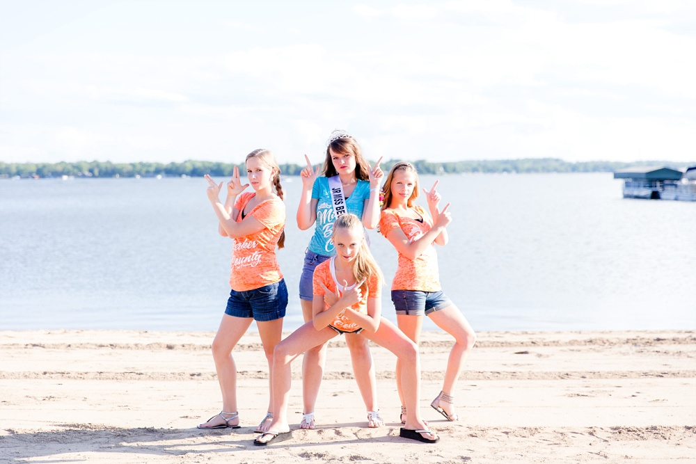 Miss Becker County 2016 pre pageant photos | Jr Miss Contestants at the Beach