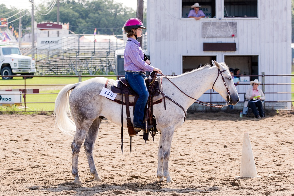 2016 Becker County 4-H Horse Show in Detroit Lakes, MN | Western Horsemanship on a grey horse