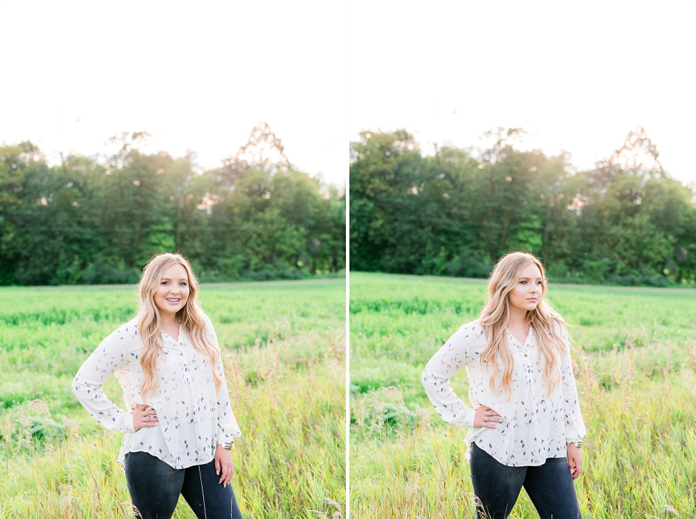 Country Styled High School Senior Photos Near Audubon, MN
