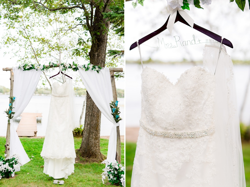 Rustic, Elegant, Lakeside & Frazee Event Center Wedding | Steph & Tim | Wedding Dress