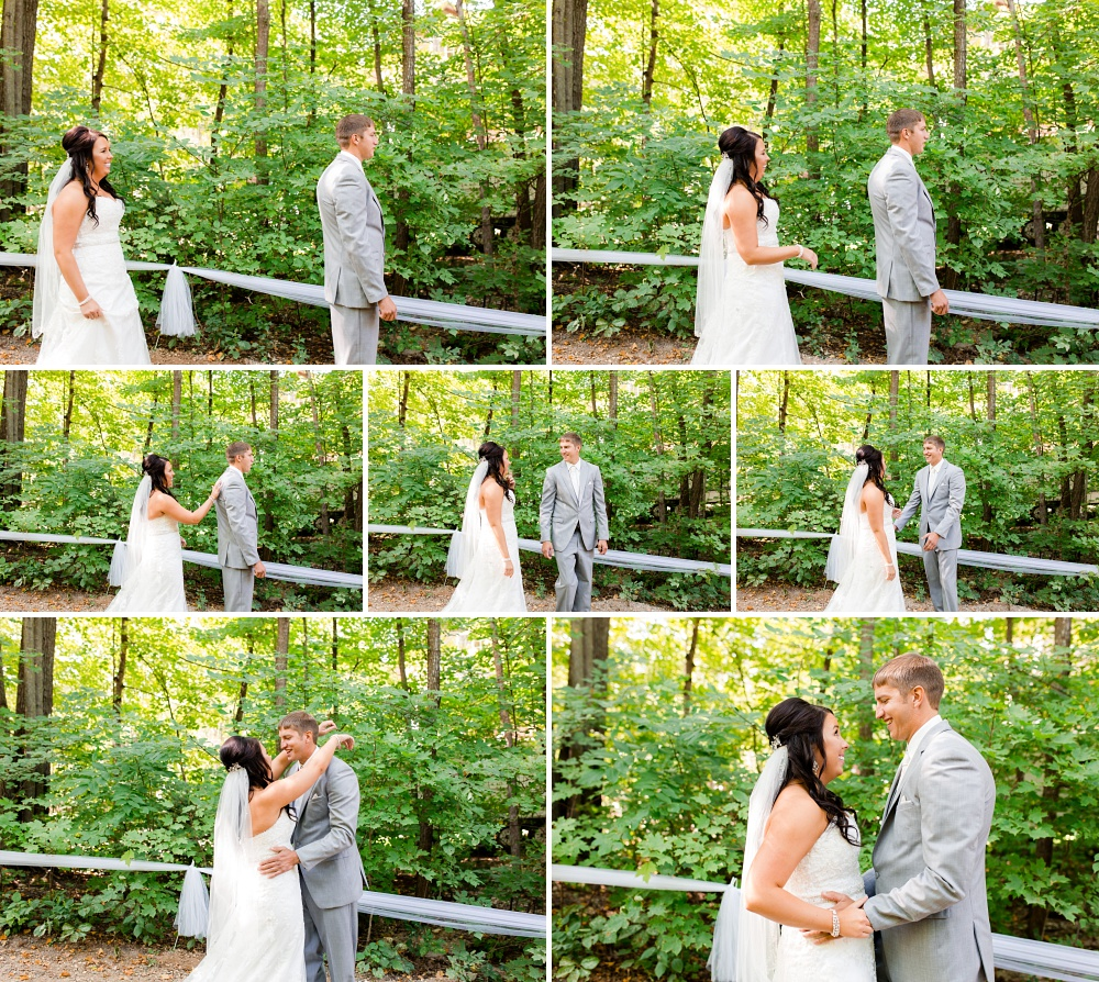 Rustic, Elegant, Lakeside & Frazee Event Center Wedding | Steph & Tim | First Look