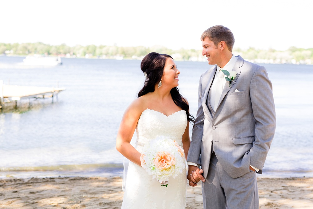 Rustic Elegant, Lakeside Ceremony & Frazee, MN Event Center Reception Wedding | Steph & Tim