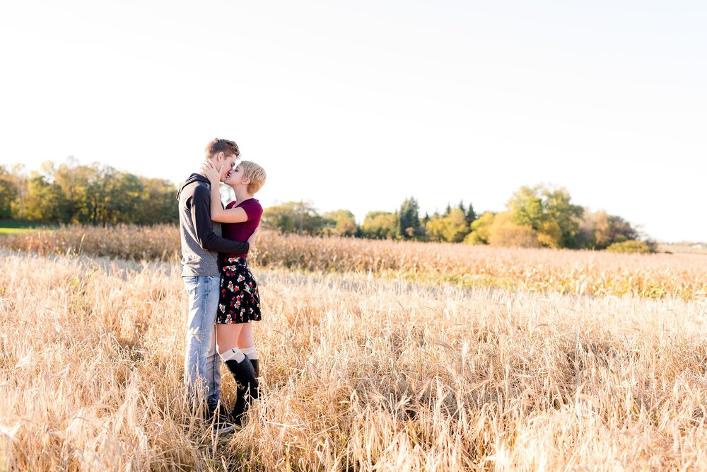 Fall, Country Styled Couple's Portraits near Audubon, MN | Maggie & Zak