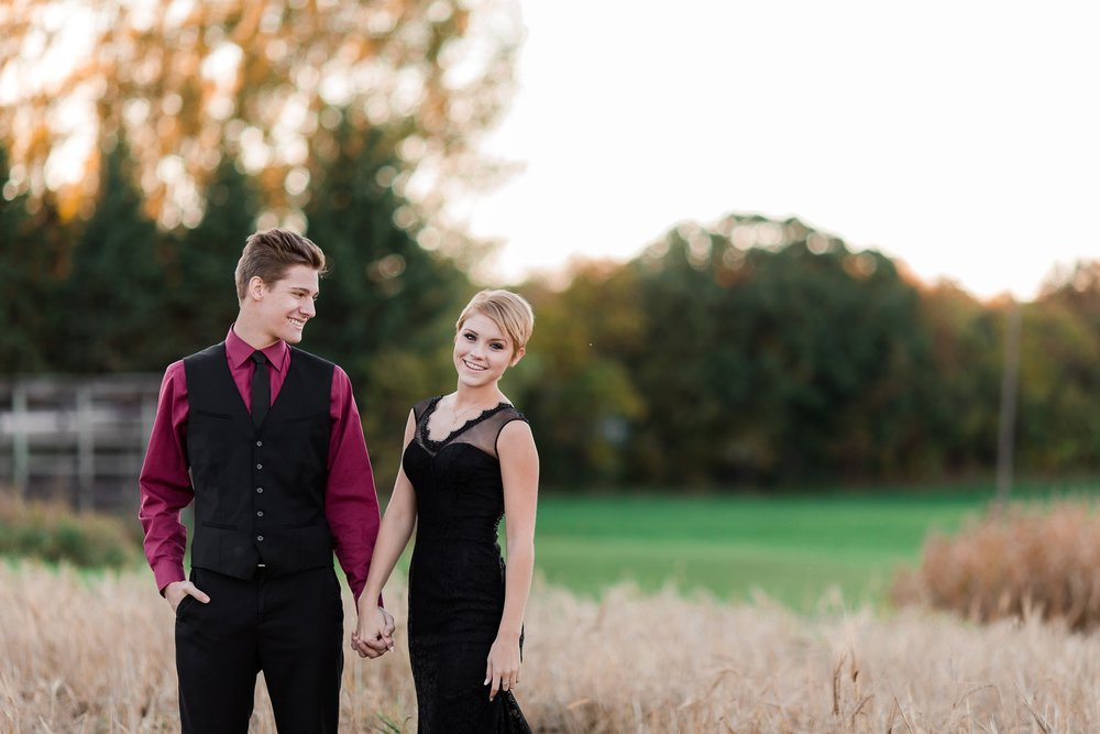 Fall, Country Styled Couple's Portraits near Audubon, MN | Maggie & Zak by Amber Langerud Photography