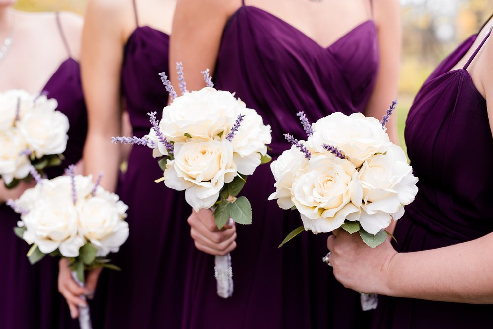 Fall Wedding bouquets by Amber Langerud Photography