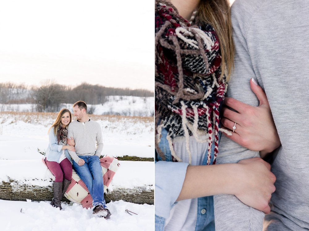 Outdoor, Country Styled, Winter Engagement Session near Audubon, MN by Amber Langerud Photography | Jena & Joel