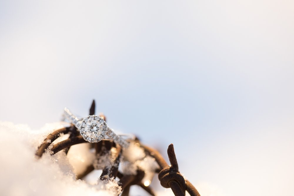 Outdoor, Winter Engagement Session near Audubon, MN by Amber Langerud Photography | Adrienne & Nick