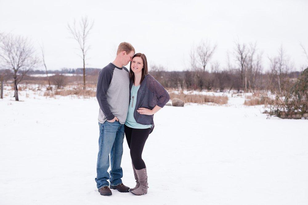 Minnesota Winter Engagement Session near Audubon, MN