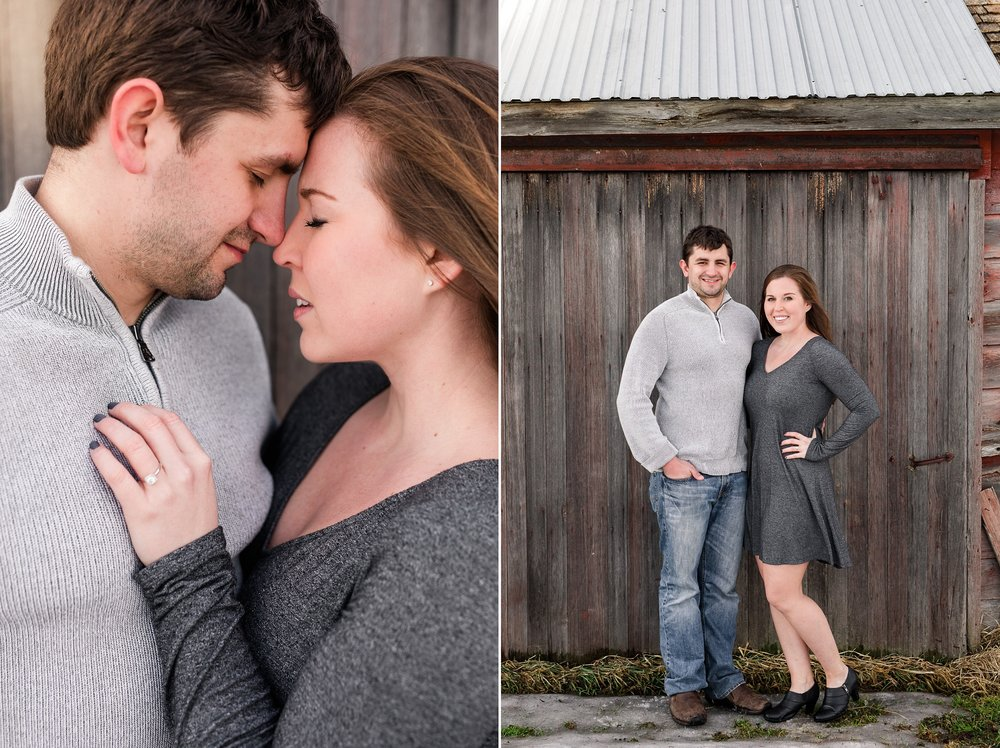 Stunning Winter Engagement Session Near Audubon, MN by Amber Langerud Photography