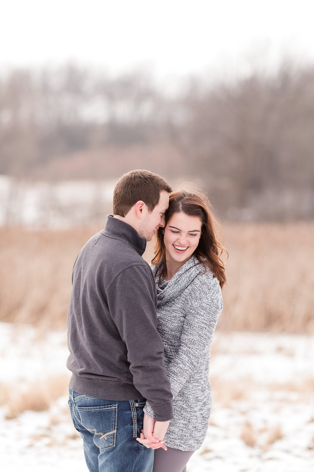 Wintertime, Country Styled Engagement Session with their Dogs near Audubon, MN by Amber Langerud Photography
