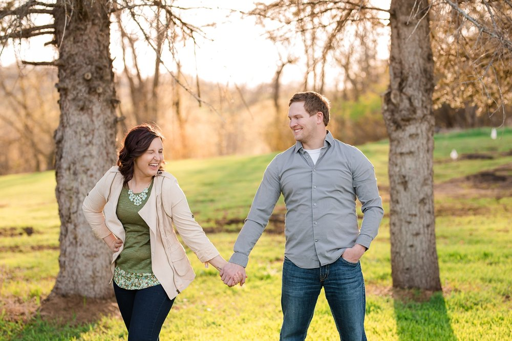 Spring, Country Styled Engagement Session near Audubon, MN | Jamie & Nathan