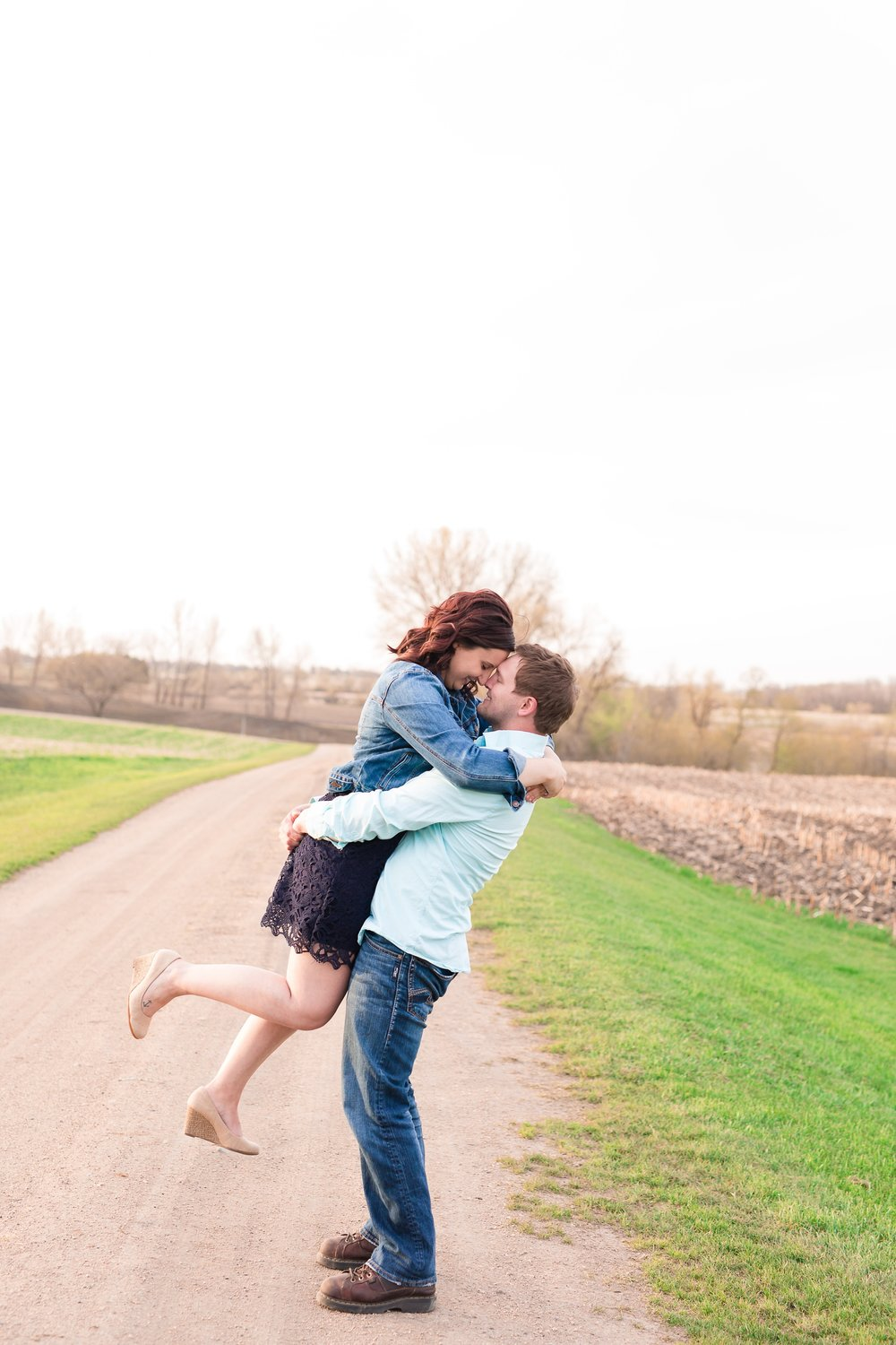 Spring, Country Styled Engagement Session near Audubon, MN by Amber Langerud Photography | Jamie & Nathan