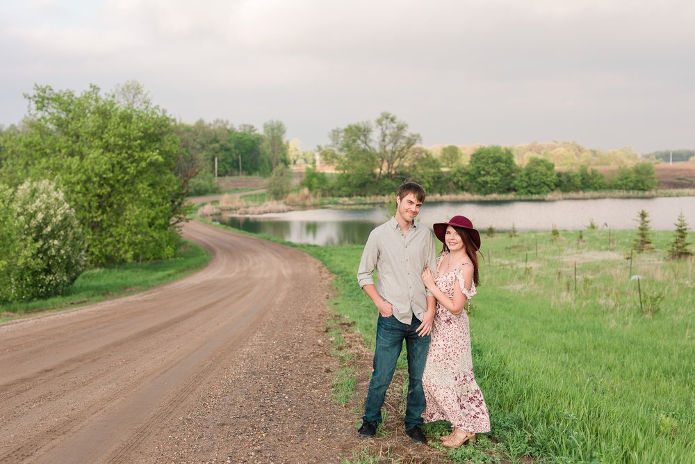 Country Styled Engagement Session with Horses by Amber Langerud Photography near Audubon, MN | Cami & Kalob