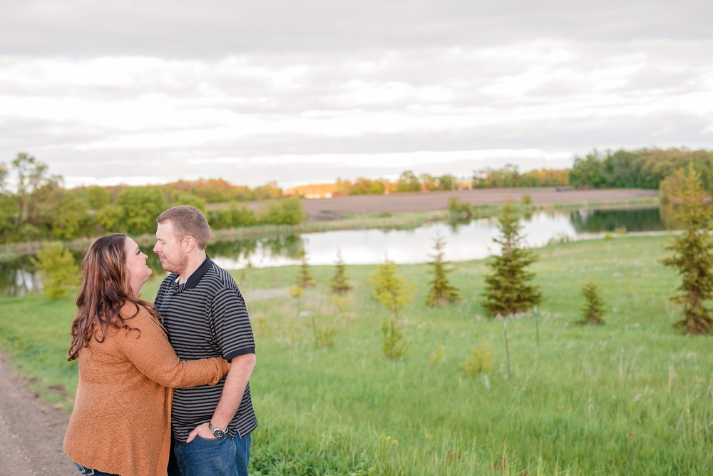 Lakeside Engagement Session by Amber Langerud Photography near Audubon, MN | Michelle & Keith